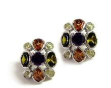 Multicolor CZ Earrings