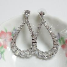 Wedding Bridal Dangle CZ Earrings