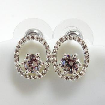 Round Dazzling Earrings