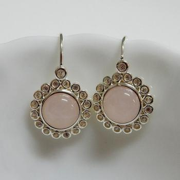 Rose Quartz Hook Earrings