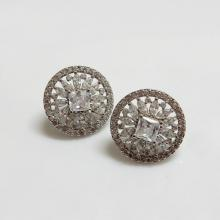Circle CZ Earrings