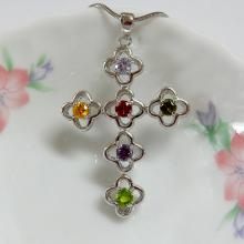 Multi Color Cross Pendant