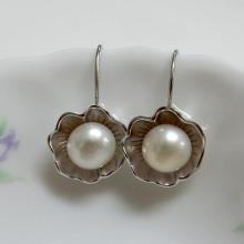 Flower Pearl Earrings