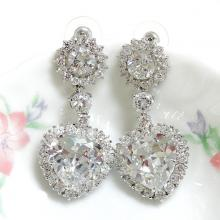 Heart Bridal Earrings