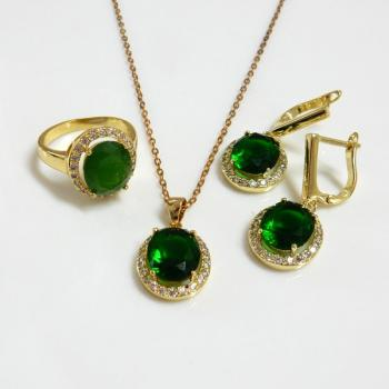 Halo Fashion Jewelry Pendant And Earrings Set