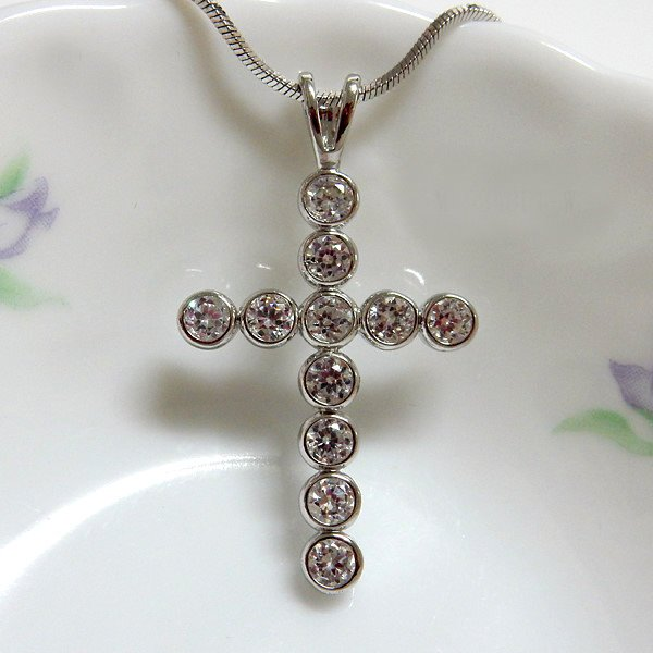 Circle Round Cross Pendant