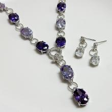 Oval Shaped Wedding Jewelry Set