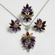 Multicolor Marquise Fashion Jewelry Set